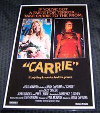 Carrie Sissy Spacek John Travolta Brian DePalma 11X17 Movie Poster William Katt