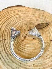 TIFFANY & CO 925 Sterling Silver Bear Bull Screwball Key Ring Keychain RARE