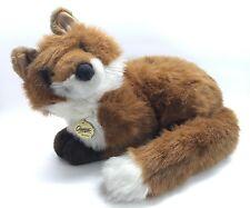 "Vintage DAKIN Classique Large Brown White Fox Plush Stuffed Animal 1989 Rare 17"""