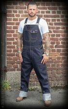 New Men's Rumble59  Raw Selvage Denim Dungarees Bib Rockabilly