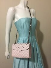 Rebecca Minkoff Mini Quilted Affair With Studs Cross Body Bag Pale Pink Small