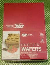 1 box - Optimum Nutrition - PROTEIN WAFERS - Chocolate Raspberry Creme 10/2020