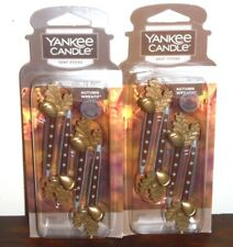 Yankee Candle Autumn Wreath Car Vent Stick odor neutralizing lot 2 new limited