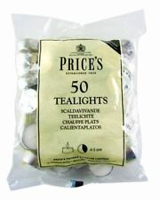 Prices Patent Candles White Tealights Bag, Pack of 50 by Prices Patent Candles