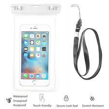 White Waterproof Case Cell Phone Dry Bag+Lanyard-iPhone 7 Galaxy S8 all phones