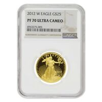 2012 W 1/2 oz $25 Proof Gold American Eagle NGC PF 70 UCAM