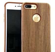 For iPhone 7+ / 8+ Plus - HARD HYBRID ARMOR RUGGED IMPACT CASE COVER BROWN WOOD
