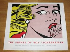 """ROY LICHTENSTEIN POSTER """" CRYING GIRL """" NATIONAL GALLERY OF ART 1995 in MINT"""