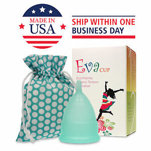 Anigan EvaCup (Made in USA - FDA Registered) Menstrual Cup - Blizzard Blue