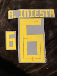 Flocage Officiel Espagne Adulte A. Iniesta
