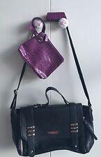 Fiorelli Black Handbag + Elizabeth Arden Makeup Bag & Lipstick Case