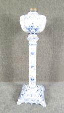 Antique  Delft  Blue and white Porcelain banquet lamp