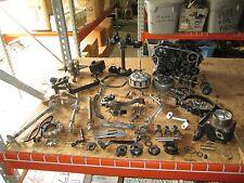 1985 Kawasaki KLR250 Crankcases Triple Tree Crankshaft Clutch Cylinder Parts Lot