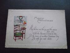 1923 IRISH POSTCARD.  'MERRY CHRISTMAS' GREETINGS.