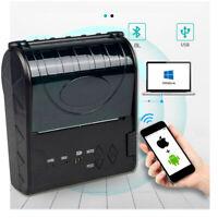Tragbar 80mm Bluetooth Thermal Empfang Drucker Barcode Drucker Für Android Ios