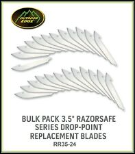 """OUTDOOR EDGE 24 Ct 3.5"""" RazorSafe System Drop-Point Replacement Blades RR35-24"""