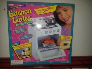 NEW Vintage 1995 Tyco Kitchen Littles DELUXE STOVE Oven RARE w/ Food