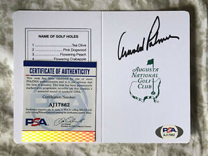Arnold Palmer SIGNED Augusta National Masters Scorecard PSA/DNA AUTOGRAPHED REAL