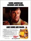 1985 Bobby Allison Miller High Life Nascar Print Ad N1