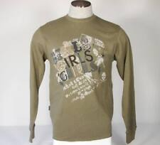 Marc Ecko Thermal Long Sleeve Olive Shirt Mens Small S NWT