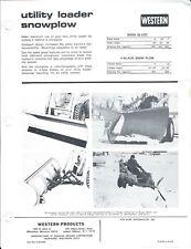 Equipment Brochure Ad - Western - Utility Loader Snowplow - Snow Blowers (E4810)