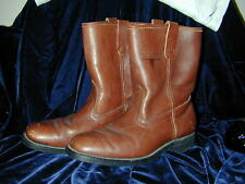 Vintage Mason Leather Motorcycle Boots Roper Western