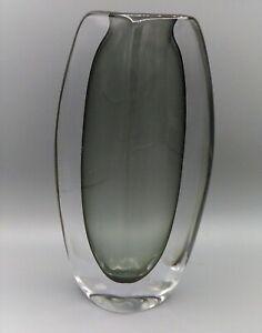 """Mid Century Modern Orrefors Nils Landberg Sommerso Dusk Vase 8"""" Signed 3538/7"""