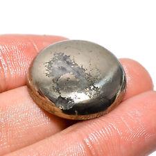 Natural Pyrite Round Shape Cabochon Loose Gemstone 46.35 Ct. 23X23X5 mm JSM-4643