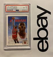 Michael Jordan PSA 6 Collector Card 1991 Upper Deck #75 Chicago Bulls INVESTMENT