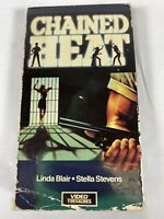CHAINED HEAT (1983) RARE VHS-Linda Blair,Sybil Danning-women in prison FREE SHIP