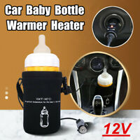 Car Baby Food Milk Bottle Warmer Portable Heater Pouch Constant Temperature  US