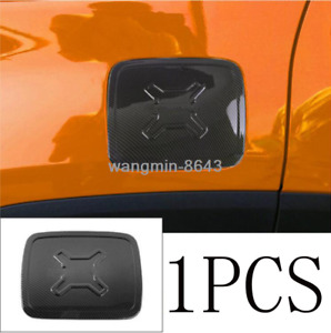 For Jeep Renegade 2019-2020 ABS Carbon Fiber Style Gas Fuel Tunk Trim Cover 1pcs