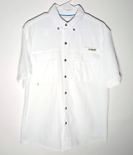 Magellan White Fishing Shirt | Vented Button Casual Outdoors | Mens Small