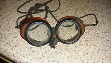 Vintage Bakelite Coverglas Goggles Glasses Steampunk Optical Motorcycle Safety