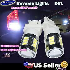 2pcs 3157 3156 T25 Samsung LED 576 lumen Back up Light Projector Lens White #mba