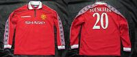 Ole Gunnar Solskjaer #20 MANCHESTER UNITED Shirt Long sleeve UMBRO 1998-2000/ M