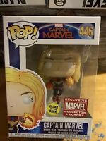 NEW FUNKO POP MARVEL #446 CAPTAIN MARVEL GITD COLLECTOR CORPS EXCLUSIVE NOT MINT