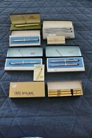 Lot 7 VINTAGE CROSS- 12KT GOLD FILLED SOFT TIP PEN+CHROME PEN/PENCIL SETS+REFILL