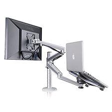 ThingyClub Adjustable Aluminium Universal Laptop & Monitor Dual Arm Desk Stand