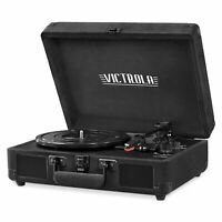 Victrola VSC-550BT-BKV Vintage 3-Speed Bluetooth Suitcase Turntable with