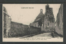 1914-1917 WW I FONTENOY FRANCE BOMBARDEMENT POSTCARD