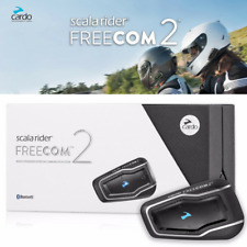 Cardo Scala Rider Freecom 2 Single Motorcycle Bluetooth Intercom To Passenger