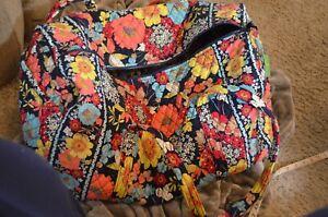 Vera Bradley HAPPY SNAILS Large Duffel Weekender Travel Bag Tote