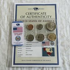 USA 6 COIN UNCIRCULATED TYPE SET - sealed pack/coa