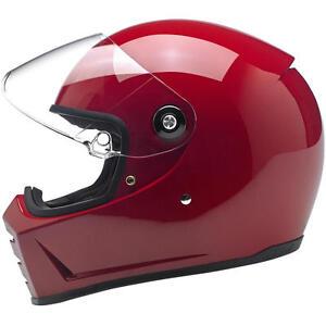 Biltwell Lane Splitter Helmet - Gloss Blood Red - CHOOSE SIZE