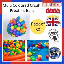 Multi Coloured Crush Proof Pit Balls Pack of 50