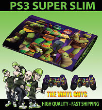 Playstation Ps3 Superslim Nick Toon Mutant Ninja Turtles Skin Sticker & Pad Skin