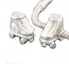 Roller Skate Charm Spacer Beads for Snake Chain Charm Bracelet