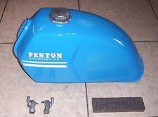 1970s PENTON/KTM JACKPINER 175 TANK w/CHAIN CAP/PETCOCKS/MORE, EX/RESTO (#CT131)
