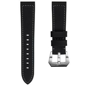 ZULUDIVER® Helford Sailcloth Waterproof Black Watch Strap 20mm 22mm 24mm